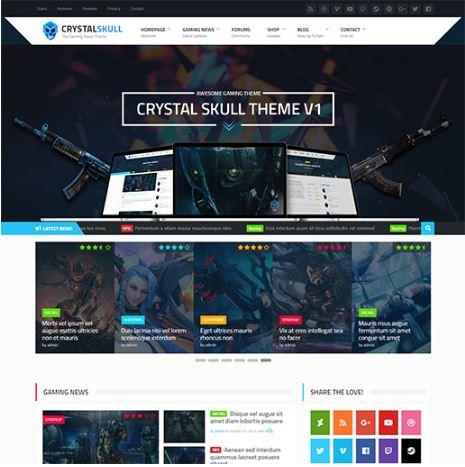 Crystal Skull - Template WordPress giới thiệu game
