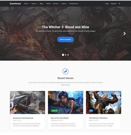 Game Forest - Template WordPress giới thiệu game