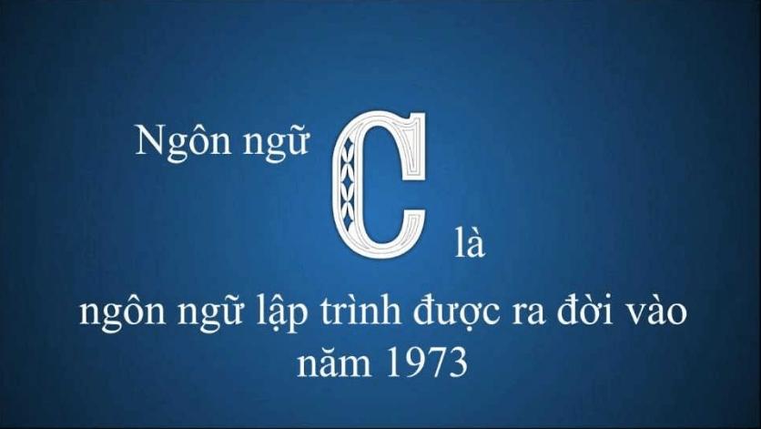 Ngôn ngữ C